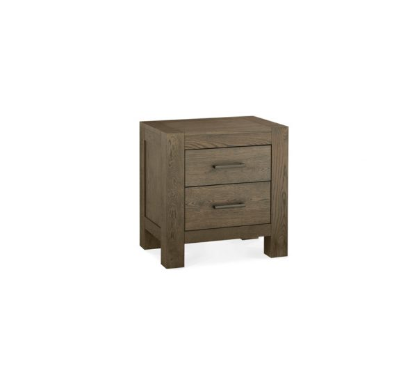 Sopha Avocado 2 Drawer Nightstand Dark Oak