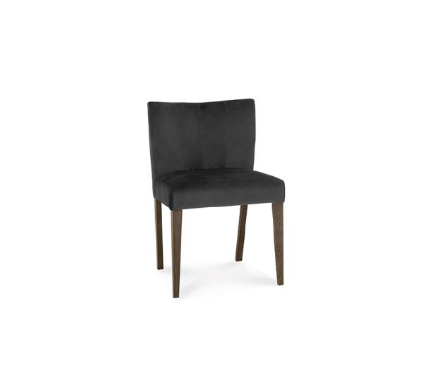 Avocado Low Back Chair Dark Oak Gun Metal Velvet