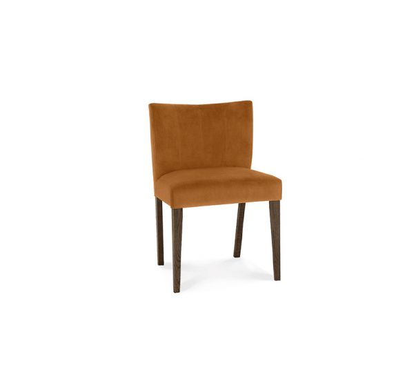 Avocado Low Back Chair Dark Oak Harvest Pumpkin Velvet