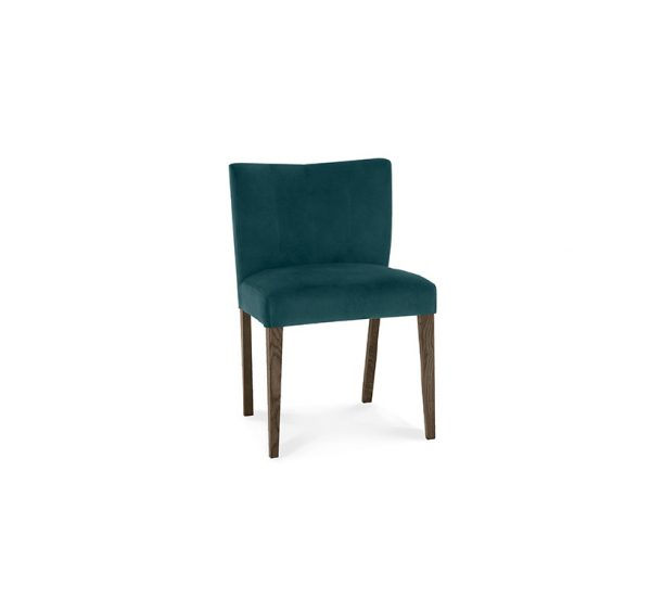 Avocado Low Back Chair Dark Oak Sea Green Velvet
