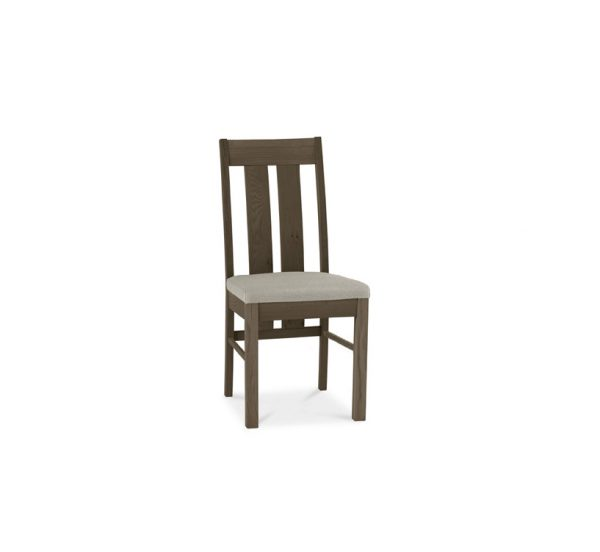 Avocado Slatted Chair Pebble Grey Dark Oak