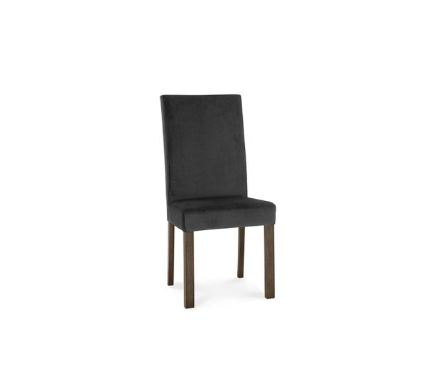 Avocado Square Back Chair Gun Metal Dark Oak