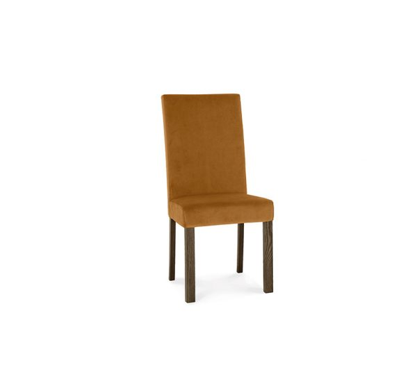 Avocado Square Back Chair Harvest Pumpkin Dark Oak