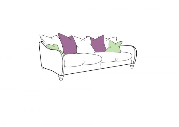 Biscotti Extra Large Pillow Back Sofa