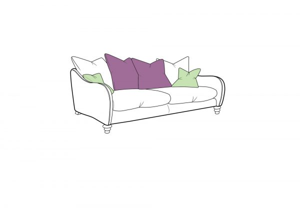 Biscotti Large Pillow Back Sofa