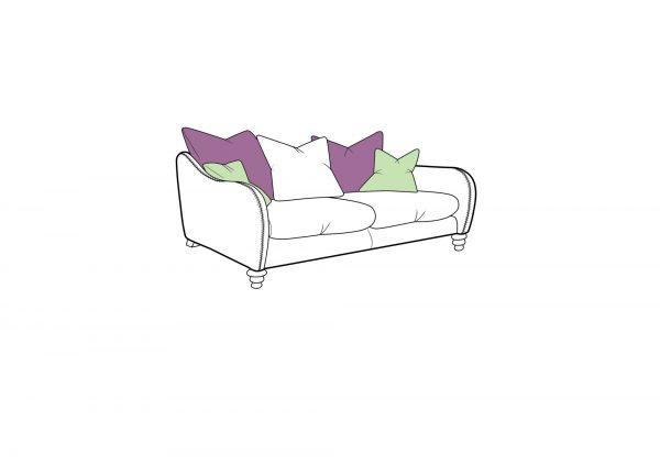 Biscotti Small Pillow Back Sofa
