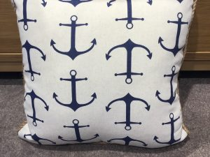 Anchor print Cushion 45x45