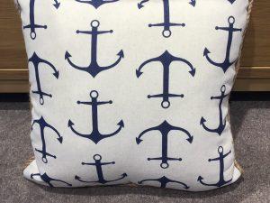 Anchor print Cushion 45x45