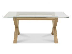 Sopha Avocado 6 Seater Glass Top Table Light Oak