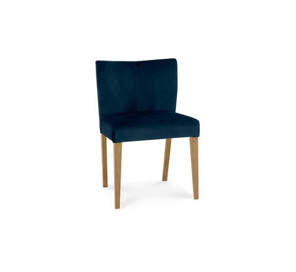 Sopha Avocado Low Back Chair Blue Velvet Light Oak
