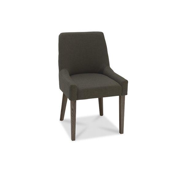 Sopha Avocado Scoop Back Chair Black Gold Dark Oak