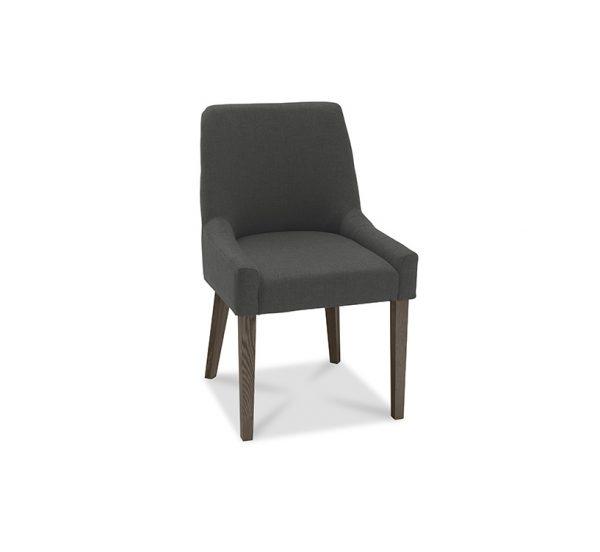 Sopha Avocado Scoop Back Chair Cold Steel Dark Oak