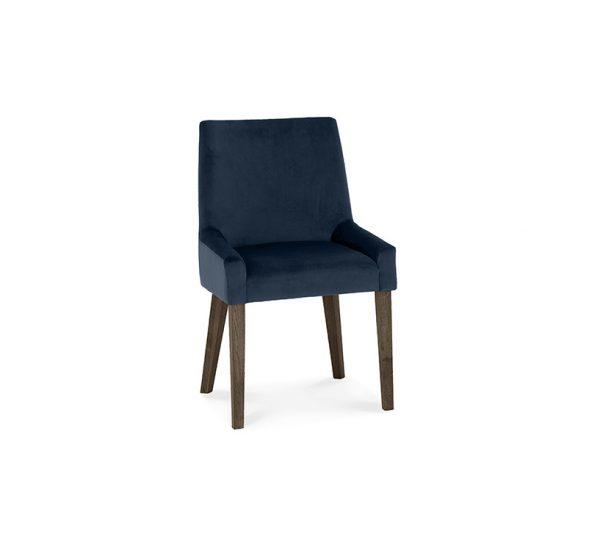 Sopha Avocado Scoop Back Chair Dark Blue Dark Oak