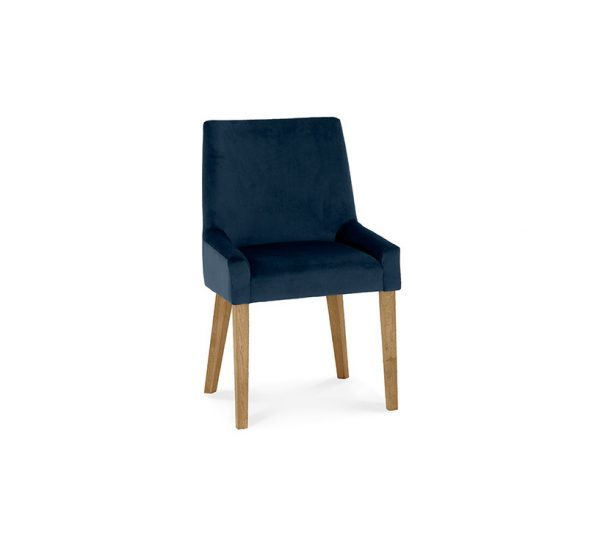 Avocado Scoop Back Chair Dark Blue Light Oak