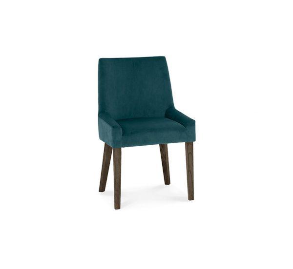 Sopha Avocado Scoop Back Chair Sea Green Dark Oak