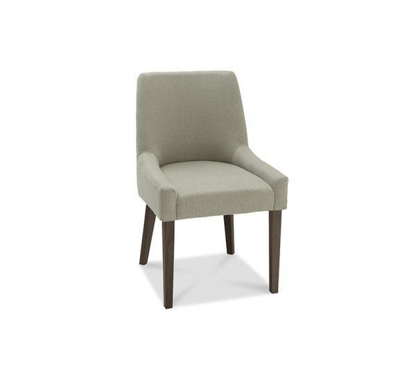 Sopha Avocado Scoop Back Chair Silver Grey Dark Oak