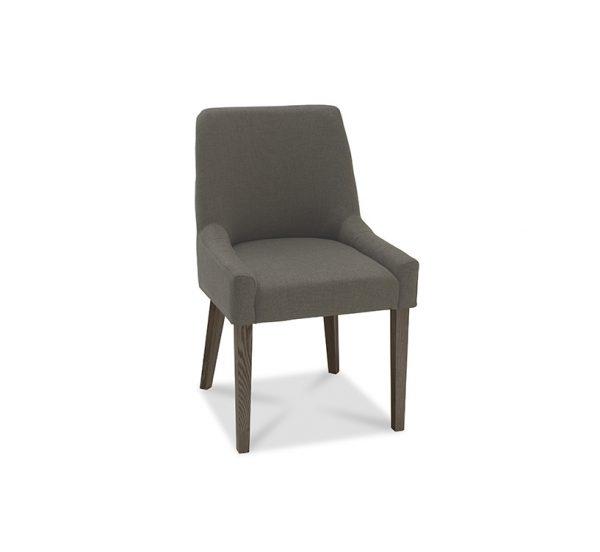 Sopha Avocado Scoop Back Chair Titanium Dark Oak