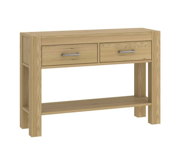 Sopha Avocado Console Table with Drawers Light Oak