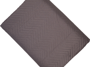 Chevron Slate Grey Quilt Throw 200 x 230