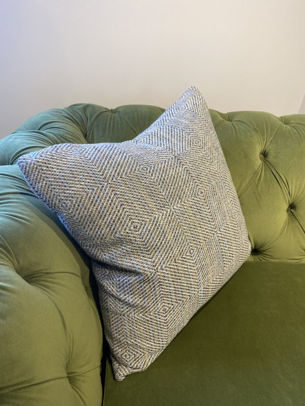 Popcorn Cuddler in Amalfi - Cedar with Morino - Thyme Scatter cushion