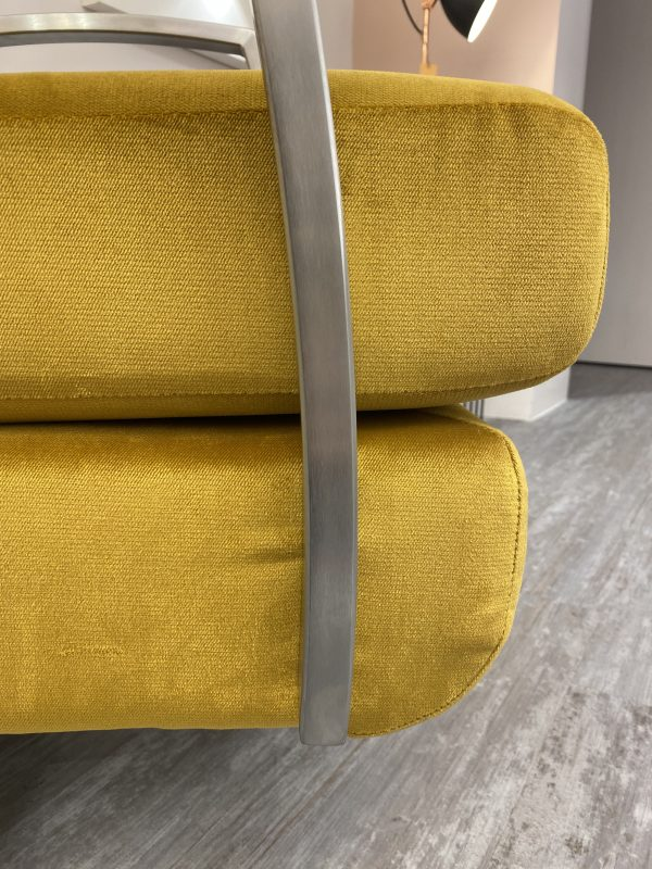 side on view of swivel chair