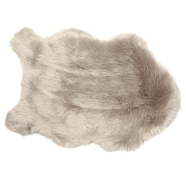 Koala Grey Faux Soft Sheepskin Rug 60 x 90