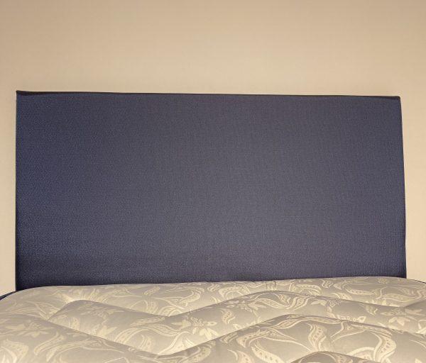 leo small double headboard in shimmering blue