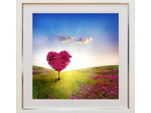 Love Meadow Pink Heart Tree Landscape W50 x H50