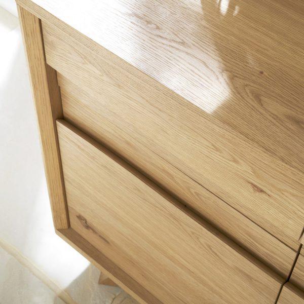 Pepper Narrow Sideboard Rustic Oak