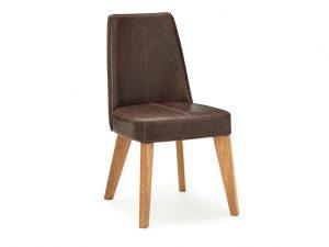 Sopha Pepper Upholstered Chair Rustic Espresso Aged Oak