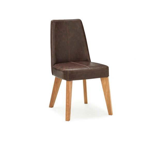 Sopha Pepper Upholstered Chair Rustic Espresso Aged Oak
