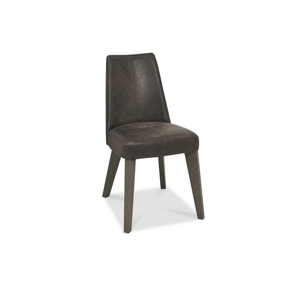 Pepper Upholstered Chair Dark Oak Brown Leather