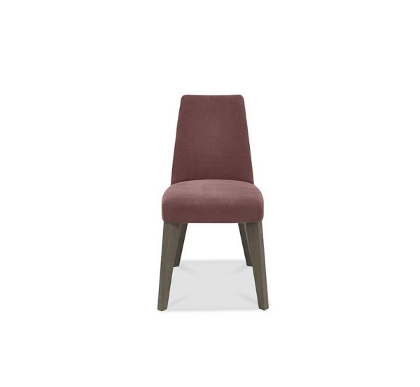 Pepper Upholstered Chair Dark Oak Mulberry Fabric
