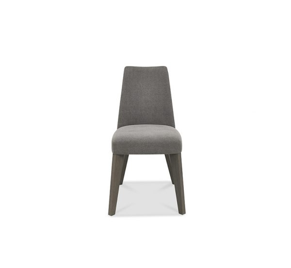 Pepper Upholstered Chair Dark Oak Smoke Grey Fabric