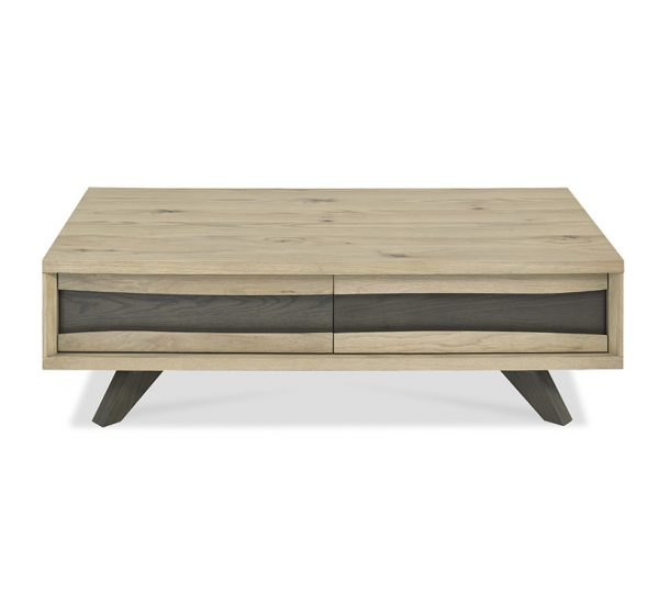 Sopha Pepper Coffee Table with Drawers Aged Oak
