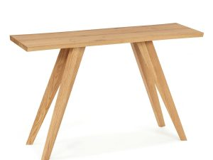 Sopha Pepper Console Table Rustic Oak