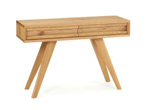 Sopha Pepper Console Table with Drawers Rustic Oak