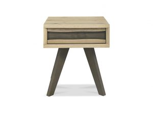 Sopha Pepper Lamp Table With Drawers Aged Oak