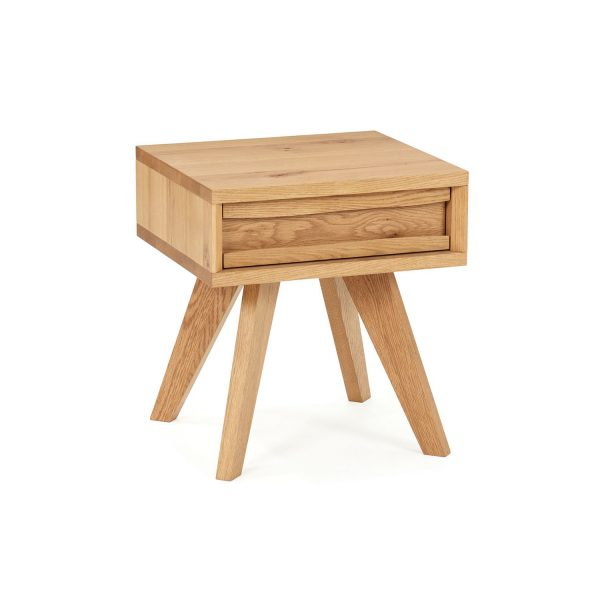 Sopha Pepper Table Lamp with Drawers Rustic Oak