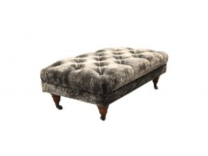 Popcorn Buttoned Chesterfield Footstool