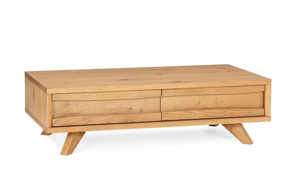 Sopha rustic oak coffee table with drawers