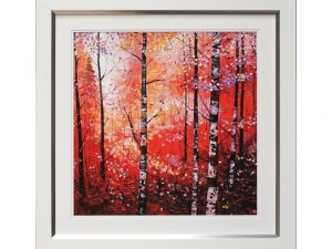Season Autumn Fall Autumnal Seasonal Woods Woodland Forest Framed Artwork W69 x H69