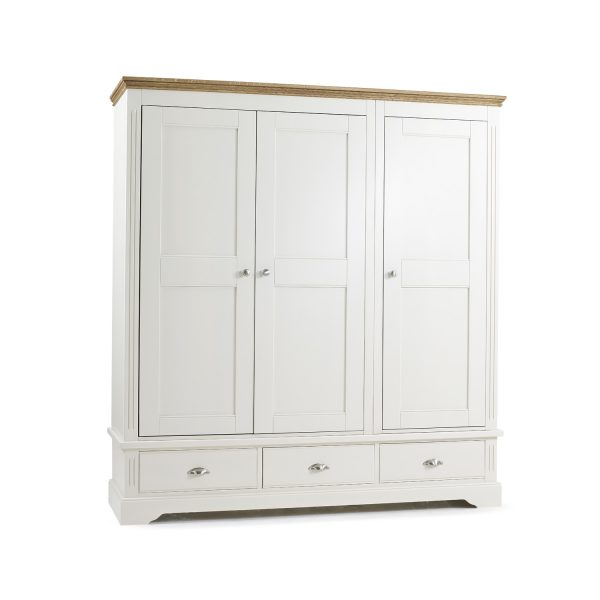 Elderflower 3 Door Triple + 3 Drawer Wardrobe