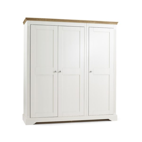 Elderflower 3 Door Triple Full Length Wardrobe