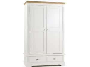 Elderflower 2 Door Wide + 1 Drawer Wardrobe