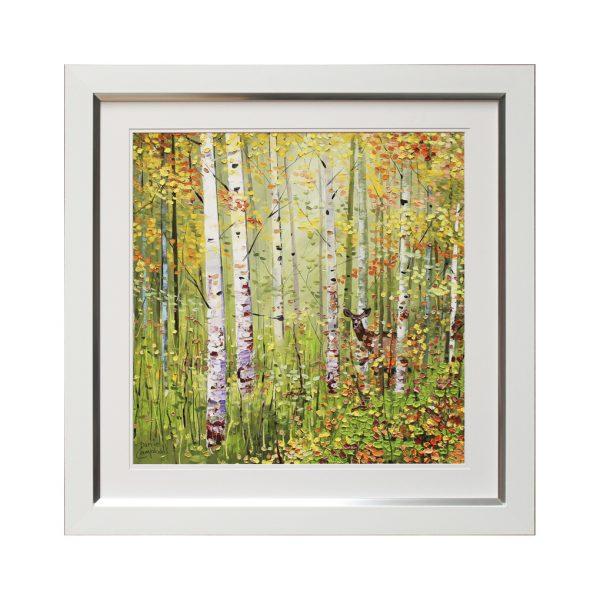 Spring Season Seasonal Woods Woodland Forest Framed Artwork W69 x H69