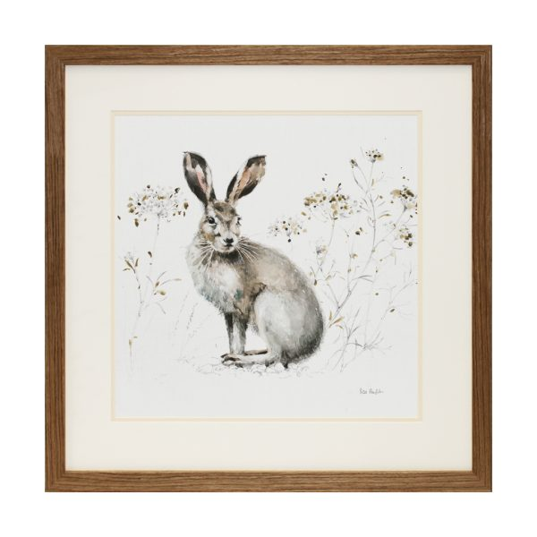The Brown Hare Spring Autumnal Framed Artwork W66 x H66