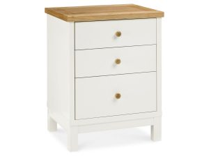 Sopha Thyme 3 Drawer Nightstand Vanilla & Oak