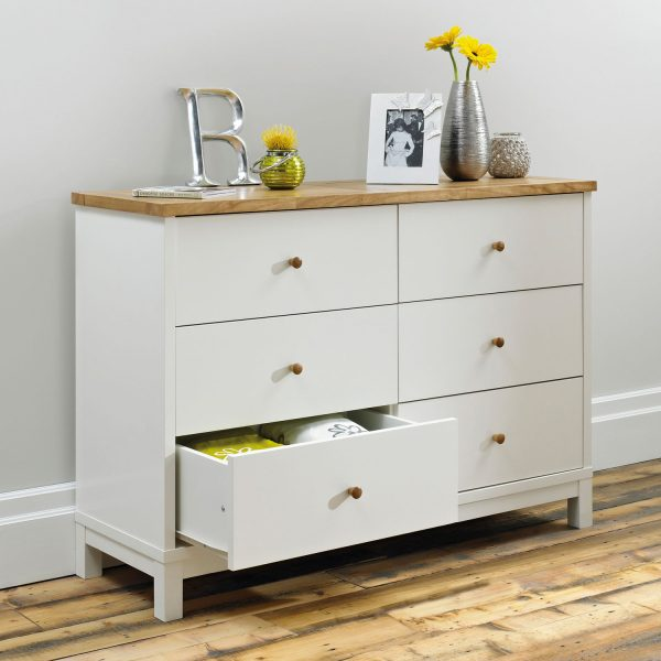 Sopha Thyme 6 Drawer Chest Vanilla & Oak