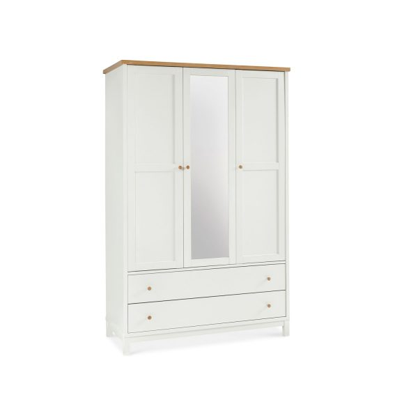 Sopha Thyme Triple Wardrobe Vanilla & Oak